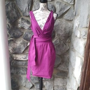 DKNY Faux Wrap Dress